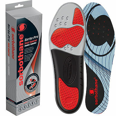 Sorbothane Sorbo-Pro Total Control Insoles - 100% Impact Protection, USA Made