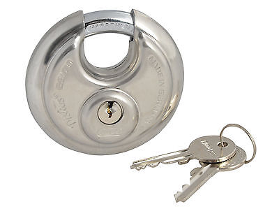 ABUS 70mm Security Stainless Steel Disc Padlock Hardened Gate/Door ABU2370C