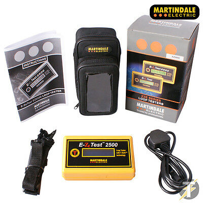 Martindale EZ2500 E-Ze Test Non-Trip Earth Loop Impedance Tester