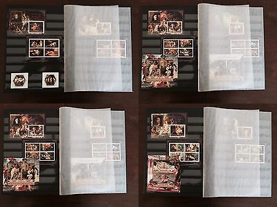 A Fine Erotic Art Paintings collection 32-pages Prinz album with MNH stamp sets