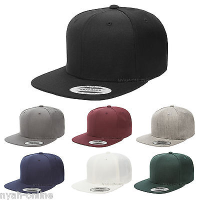 New *premium* Snapback Cap Black Plain Baseball Hip Hop Era Fitted Flat Peak Hat