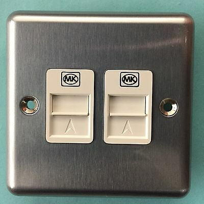 MK Telephone Socket Outlet Dual Secondary K433MCO BT APPROVED MK 433
