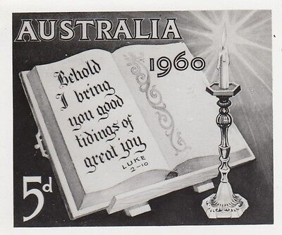 Stamp Australia 1960 Christmas issue official photograph proof for the bulletin