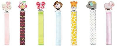 C.R. Gibson Baby Dumpling Girl or Boy Pacy Pacifier Clips – Various Designs