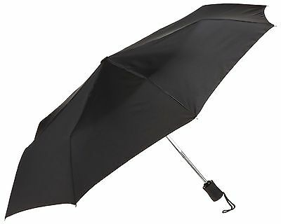 Lewis N. Clark Automatic Travel Umbrella by Lewis N. Clark Black One Size NEW