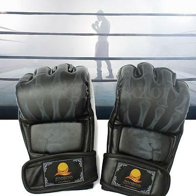 MMA UFC Sparring Grappling Training Free Combat Muay PU Leather Boxing Gloves