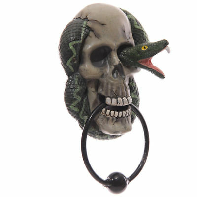 New Skull And Snake Resin Door Knocker Dkn01 Truly Awesomely Horrid!  Sale !!