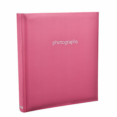 Large 5 x 7 Slip In Case Bookbound Memo Photo Album For 120 Holds Pink- AL-9142