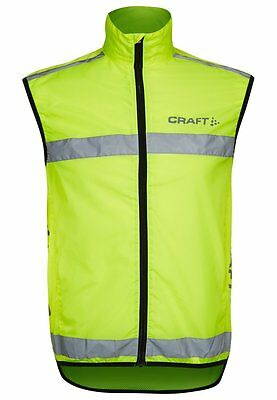 Craft Cycle Cycling Mountain Bike MTB Vis Visibility Yellow Vest - Clearance