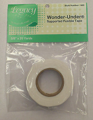 4 PACKS : LEGACY WONDER UNDER FUSIBLE TAPE : Style No 805 : 20 YDS IN EACH PACK