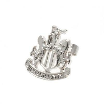 Newcastle United Fc Sterling Silver Stud Earring Jewellery Football Crest New