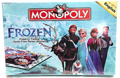 New Disney Frozen Monopoly Board Game Card Set Kids Girl Boy Toys Christmas Gift