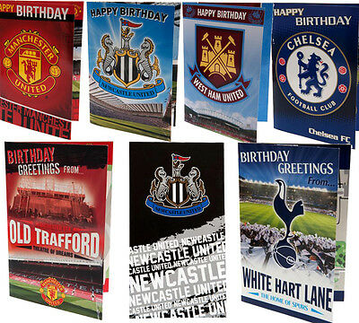 Official Football Club Birthday Cards PopUp Musical Card Badges - 28 Styles