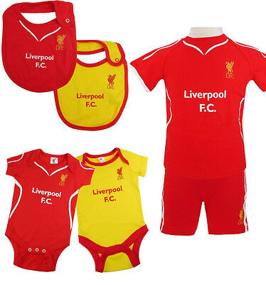 Liverpool Fc Home Kit Baby Childrens Bib Babygrow Sleepsuit Clothing Pyjamas New