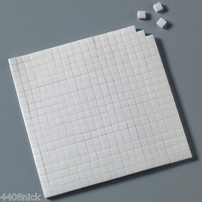 5 SHEETS DOUBLE SIDED STICKY FOAM PADS  5 mm  x 5 mm x 2 mm (2000 total)