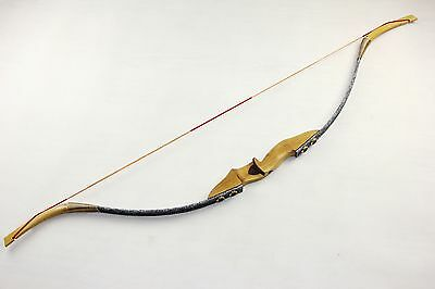 50lbs Hunting Recurve Bow Archery Handmade Longbow Snake Pattern Removable bow