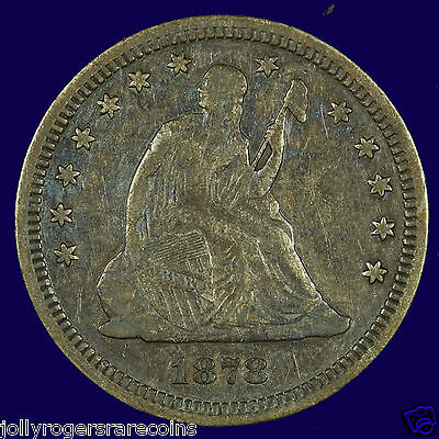 Seated Liberty Silver Quarter. 1878 VF/ EF  Lot # 9002-001