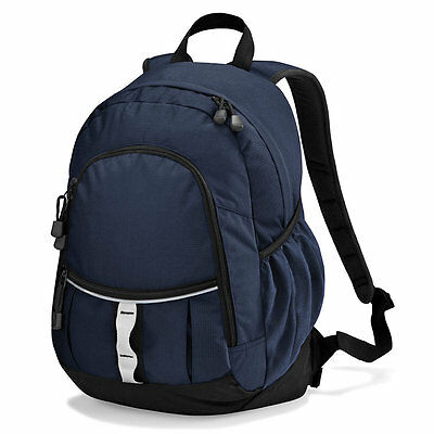 Quadra Pursuit Backpack Qd057 School Choice Of Colour Unisex Bag Rucksack