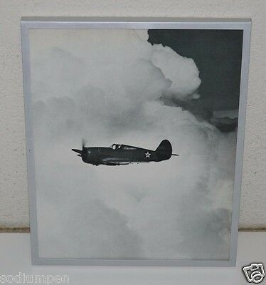 US Air Force USAF Bomber Plane Flying in the Clouds Framed Black & White Print