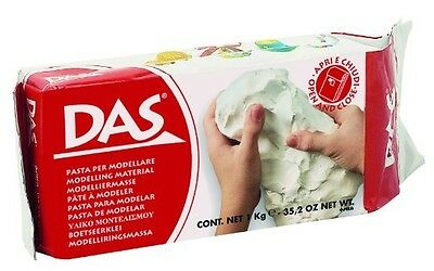 MODELLING MATERIAL POTTERY AIR-HARDENING DAS 1kg 2.2 pound air-dried clays NEW