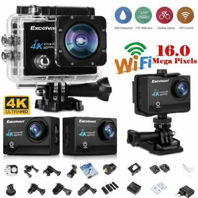 4K 16MP Ultra HD DV Cámara Deportiva 1080P WIFI Acción Video Cámara Impermeable
