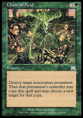 4x Catena d'Acido - Chain of Acid MTG MAGIC ONS Onslaught Ita/Eng