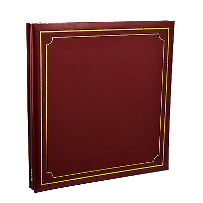 Photo Album Self Adhesive Red 32x26 cm 24/Sheets-48/Sides By Arpan