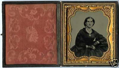Sixth Plate Ambrotype Portrait Of A Woman