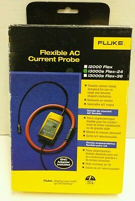 FLUKE i3000s FLEXIBLE AC CURRENT PROBE Flex-24 600 Volt Measures AC Current