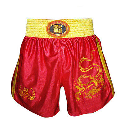 Hot MMA Muay Thai Kick Boxing Shorts Embroidered Dragon Fights Martial Art Cloth