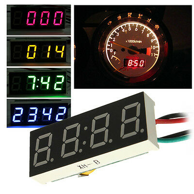 Digital LED Clock Watch Car Truck Motor Motorcycle 24 Hour Time DC 7-30V