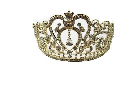 US Gold Bridal Wedding Crystal Rhinestone Hair Headband Crown Tiara Prom Pageant