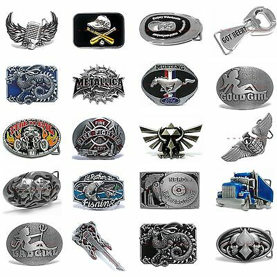 Hbum0357 Many Styles  Letters / Music / Skull / Dragon / Car Alloy Belt Buckle