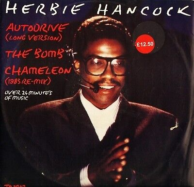 "HERBIE HANCOCK autodrive/the bomb/chameleon TA 3802 uk cbs 1983 12"" PS EX/VG"