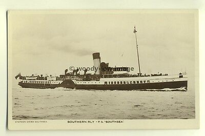 f13495 - Portmouth to Ryde Isle of Wight Paddle Steamer - Southsea - postcard