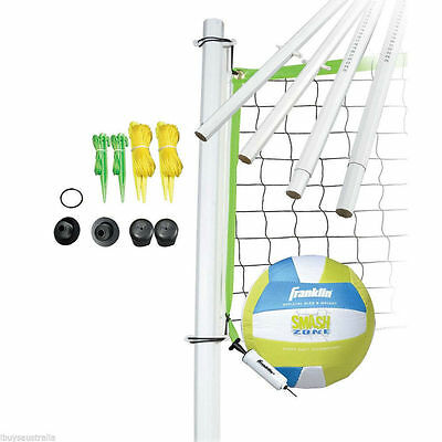 Franklin Intermediate Backyard Volleyball Set with Net Ball Carry Bag OG50401
