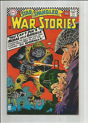 STAR SPANGLED WAR STORIES #126: Silver Age Grade 6.0 Featuring Sgt Gorilla!!