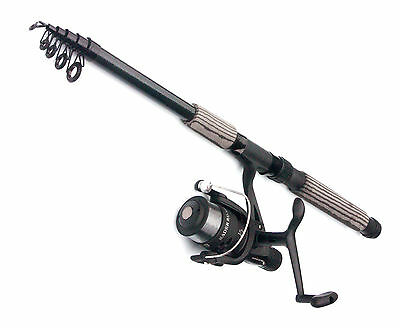 Silstar Radar Reel & CARBON Telerod combos Choose from 7ft to 12ft rods