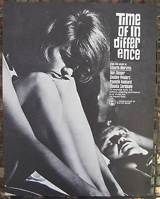 TIME OF INDIFFERENCE Claudia Cardinale Rod Steiger Shelly Winters MOVIE FLYER