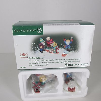 Department 56 North Pole Village Tee Time Elves NEW 56442 1999 Retired