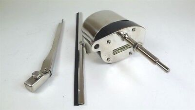 Stainless Windshield Wiper Motor Kit Hot Street Rod Jeep Boat Chevy Ford Mopar