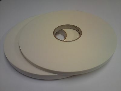 High Quality White Double-Sided Foam Tape; 19mm x 50m