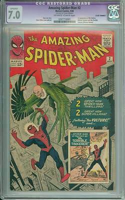 Amazing Spider-Man # 2  First app Vulture !   CGC 7.0 movie scarce hot book !!