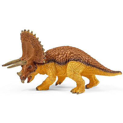 Schleich Triceratops Small (Brown and Yellow) Dinosaur Figure NEW
