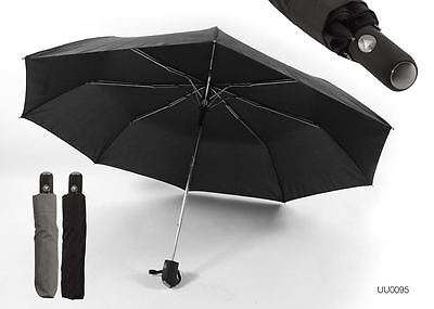 Mens Black Drizzles Super Mini Small Folding Compact Auto Opening Umbrella Uu95
