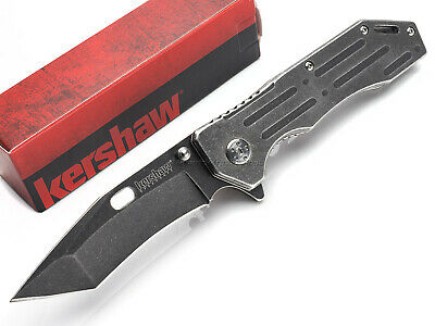 Kershaw Lifter Folding Knife Spring Assisted Open Blackwash 3Cr13 Tanto KS1302BW