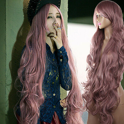 100cm Women Lady Long Curly Wavy Full Hair Cosplay Party Anime Lolita Wigs / Wig