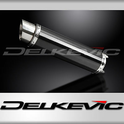 DELKEVIC EXHAUST BOLT-ON SILENCER 350mm CARBON FIBRE HONDA CB400SF NC39 92-98