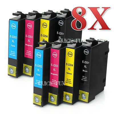 8x NON-OEM Ink Cartridge Generic for Epson WorkForce WF-2630 WF2660 WF2650