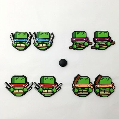 Cartoon TMNT Turtles Shoe Charms for Croc Jibbitz Wristbands 10pcs Boy Gifts